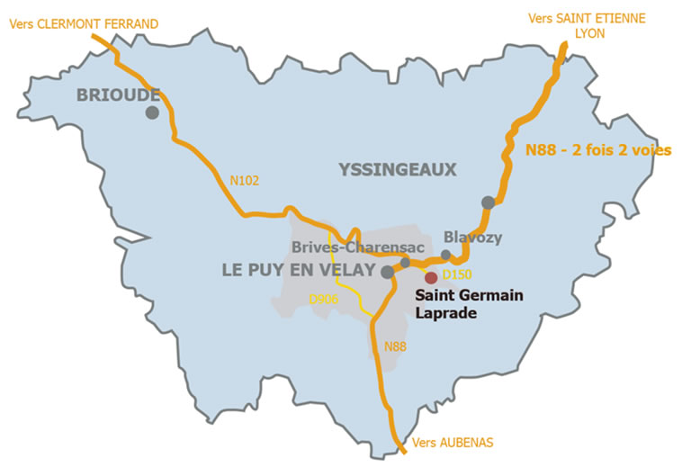 Localisation Saint-Germain-Laprade